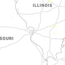 Regional Hail Map for Saint Louis, MO - Tuesday, June 29, 2021