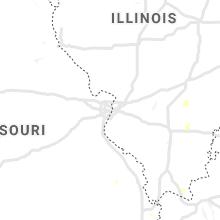 Regional Hail Map for Saint Louis, MO - Wednesday, June 30, 2021