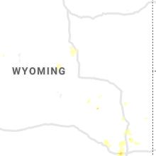 Regional Hail Map for Casper, WY - Thursday, July 1, 2021