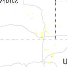 Regional Hail Map for Laramie, WY - Thursday, July 1, 2021