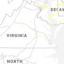 Regional Hail Map for Richmond, VA - Thursday, July 1, 2021