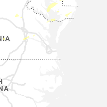 Regional Hail Map for Virginia Beach, VA - Thursday, July 1, 2021