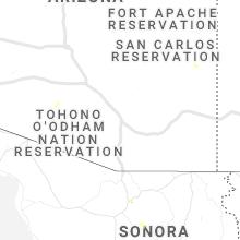 Regional Hail Map for Tucson, AZ - Friday, July 2, 2021