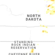 Regional Hail Map for Bismarck, ND - Saturday, July 3, 2021