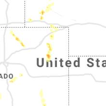 Regional Hail Map for Yuma, CO - Saturday, July 3, 2021