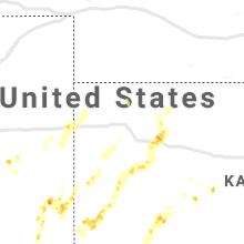 Regional Hail Map for Colby, KS - Sunday, July 4, 2021