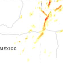 Regional Hail Map for Tucumcari, NM - Sunday, July 4, 2021