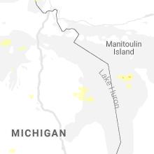 Regional Hail Map for Alpena, MI - Monday, July 5, 2021