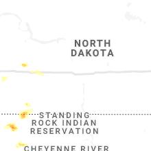 Regional Hail Map for Bismarck, ND - Monday, July 5, 2021