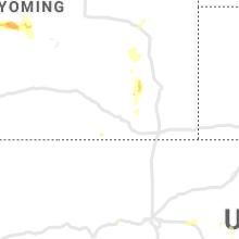 Regional Hail Map for Laramie, WY - Monday, July 5, 2021