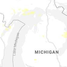 Regional Hail Map for Traverse City, MI - Monday, July 5, 2021