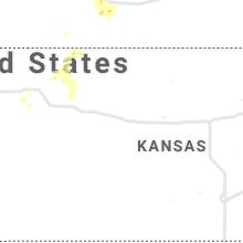 Regional Hail Map for Hays, KS - Tuesday, July 6, 2021