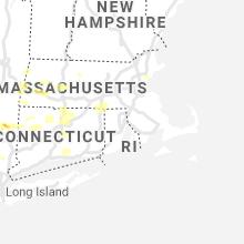 Regional Hail Map for Providence, RI - Tuesday, July 6, 2021
