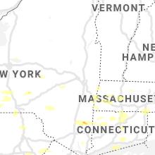 Regional Hail Map for Schenectady, NY - Tuesday, July 6, 2021