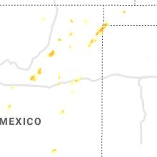 Regional Hail Map for Tucumcari, NM - Tuesday, July 6, 2021