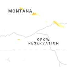 Regional Hail Map for Billings, MT - Wednesday, July 7, 2021