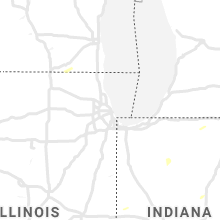 Regional Hail Map for Chicago, IL - Wednesday, July 7, 2021