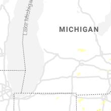 Regional Hail Map for Grand Rapids, MI - Wednesday, July 7, 2021