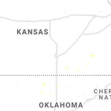 Regional Hail Map for Wichita, KS - Wednesday, July 7, 2021