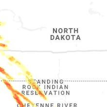 Regional Hail Map for Bismarck, ND - Thursday, July 8, 2021