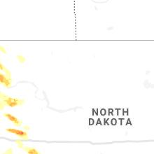 Regional Hail Map for Minot, ND - Thursday, July 8, 2021