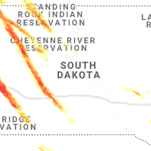 Regional Hail Map for Pierre, SD - Thursday, July 8, 2021
