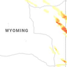 Regional Hail Map for Casper, WY - Friday, July 9, 2021
