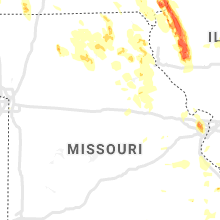 Regional Hail Map for Columbia, MO - Friday, July 9, 2021