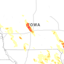 Regional Hail Map for Des Moines, IA - Friday, July 9, 2021