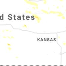 Regional Hail Map for Hays, KS - Friday, July 9, 2021