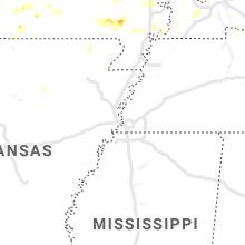 Regional Hail Map for Memphis, TN - Friday, July 9, 2021
