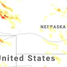 Regional Hail Map for North Platte, NE - Friday, July 9, 2021