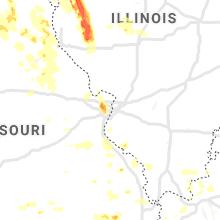 Regional Hail Map for Saint Louis, MO - Friday, July 9, 2021
