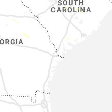 Regional Hail Map for Savannah, GA - Friday, July 9, 2021
