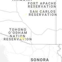 Regional Hail Map for Tucson, AZ - Friday, July 9, 2021