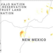 Regional Hail Map for Albuquerque, NM - Saturday, July 10, 2021