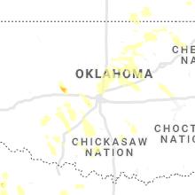 Regional Hail Map for Oklahoma City, OK - Saturday, July 10, 2021