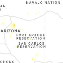 Regional Hail Map for Show Low, AZ - Saturday, July 10, 2021