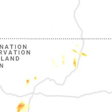 Regional Hail Map for Taos, NM - Saturday, July 10, 2021
