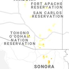 Regional Hail Map for Tucson, AZ - Saturday, July 10, 2021