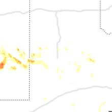 Regional Hail Map for Lubbock, TX - Sunday, July 11, 2021