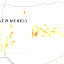 Regional Hail Map for Roswell, NM - Sunday, July 11, 2021