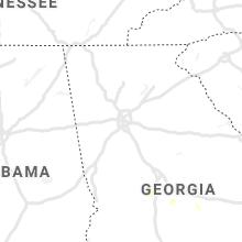 Regional Hail Map for Atlanta, GA - Monday, July 12, 2021