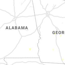Regional Hail Map for Auburn, AL - Monday, July 12, 2021