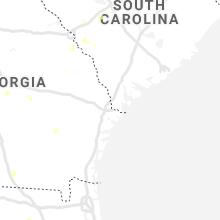 Regional Hail Map for Savannah, GA - Monday, July 12, 2021