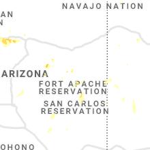 Regional Hail Map for Show Low, AZ - Monday, July 12, 2021