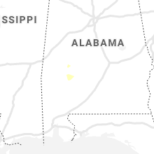 Regional Hail Map for Camden, AL - Tuesday, July 13, 2021