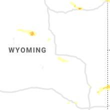 Regional Hail Map for Casper, WY - Tuesday, July 13, 2021