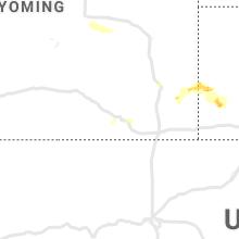 Regional Hail Map for Laramie, WY - Tuesday, July 13, 2021
