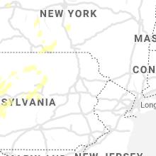 Regional Hail Map for Scranton, PA - Tuesday, July 13, 2021
